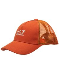 EA7 Adjustable Men's Cotton Hat Baseball Cap - Oranje