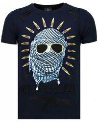 Local Fanatic Freedom Fighter - Rhinestone T-shirt - Zwart