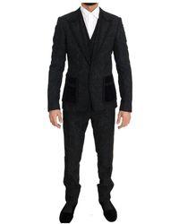Dolce & Gabbana Torrero Slim 3 Piece One Button Suit - Zwart