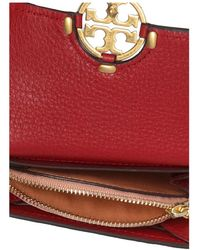 Tory Burch Wallet with logo Rojo