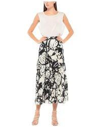 Iuter Vink Long Wine Skirt - Noir