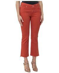 Fay Cropped Jeans - Oranje