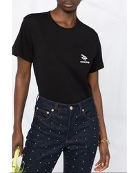 RED Valentino - Logo-embroidered T-shirt Negro - Lyst