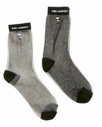 Karl Lagerfeld Socks 2-pak - Grijs