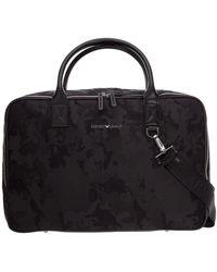 Emporio Armani Travel Duffle Weekend Shoulder Bag - Zwart