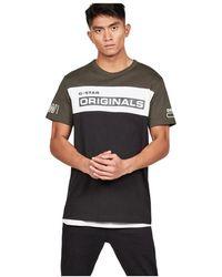 G-Star RAW Swando Block T-shirt - Groen