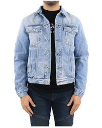 Off-White c/o Virgil Abloh Logo Slim Denim Jacket - Bleu