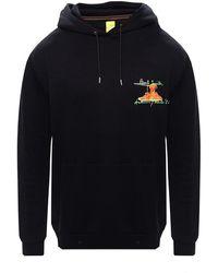 Bronx Logo-embroidered hoodie - Nero