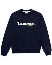 Lacoste - Crocodile Branded Fleece Sweatshirt - Lyst