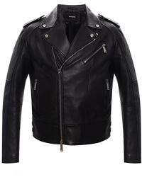 DSquared² Leather biker jacket - Nero