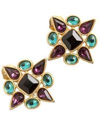 Yves Saint Laurent Vintage Star Earclips - Meerkleurig