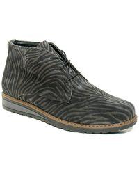 Waldläufer Medium high lace-up shoe Havida - Gris