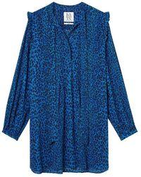 Zoe Karssen Dandy Leopard Mini Dress - Blau