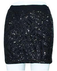 BCBGMAXAZRIA Mini Skirt Negro