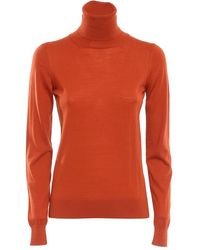 Drumohr Turtle Neck Sweater - Oranje