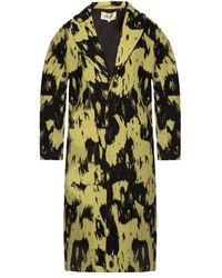 Diane von Furstenberg Coat With Pockets - Geel