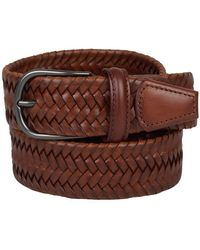 Santa Eulalia Braided leather belt - Marrón
