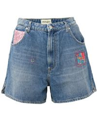 Roy Rogers Denim Shorts Azul