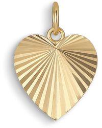 Jane Kønig Reflection Heart Pendant, Gold-plated Sterling Silver - Geel