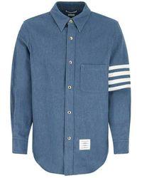 Thom Browne Shirt - Blauw