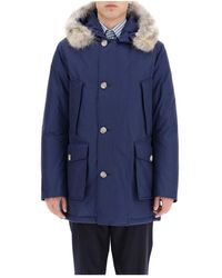 Woolrich Arctic Parka With Coyote Fur - Blauw