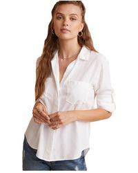 Bella Dahl Split Back Button Down Shirt - Wit