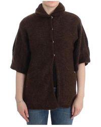 Roberto Cavalli Mohair Knitted Cardigan - Bruin
