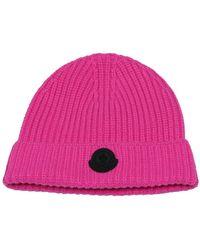 Moncler Rib-knit Beanie - Roze