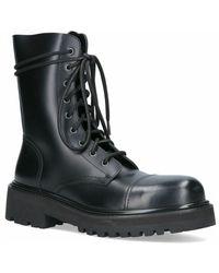 Vetements Leather Ankle Boots - Noir