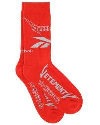 Vetements Socks - Rouge