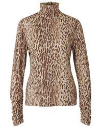 Zimmermann Leopard Gebreide Top - Oranje