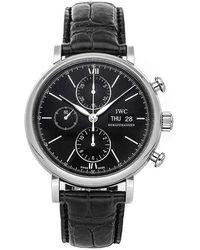 IWC Schaffhausen Portofino Cronograph Watch - Schwarz