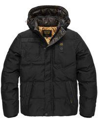 PME LEGEND Hooded Jacket Poly Micro Foam - Grijs