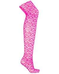 Versace Tulle Tights - Roze