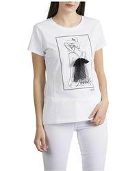 Liu Jo T-shirt Con Applicazioni - Bianco