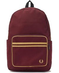 Fred Perry Authentieke Twin Getipt Backpack - Rood