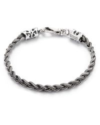 Emanuele Bicocchi Tiny Braided Bracelet - Gris