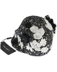 Dolce & Gabbana Cloche Hat - Zwart