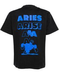 Aries Frar60009 t- shirt Negro