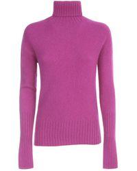 Drumohr Sweater L/s Turtle Neck W/ribbed Wrist - Roze