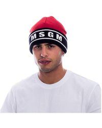 MSGM Wool Hat - Rood