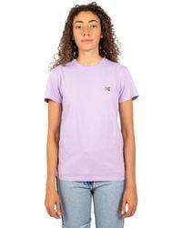 Maison Kitsuné T-shirt tête renard - Morado