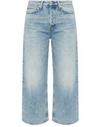 Rag & Bone Maya high-waisted trousers - Bleu
