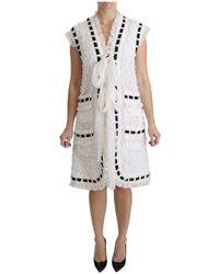 Dolce & Gabbana Vest Haak - Wit