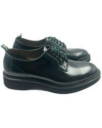 Green George Derby Shoes - Zwart