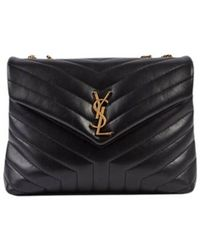 Saint Laurent Sac Loulou Medium Bag - Zwart
