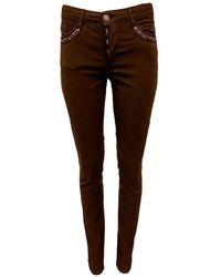 2-Biz Precious Trousers - Marron