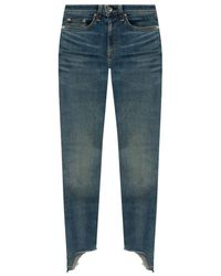 Rag & Bone Raw Edge Jeans - Blauw