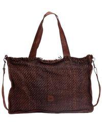 Biba Natural Sheep Leather Handbag - Sterling - Bruin