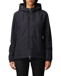 Paul & Shark - Typhoon down jacket with hood and double-slider zip closure - Lyst